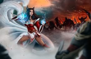 видео игры, league of legends, магия, уши, фон, девушка