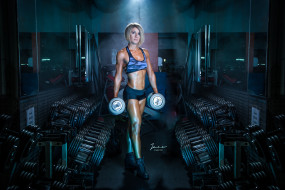 workout, female, dumbbells, fitness, Gym, gym