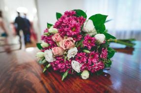 букет, розы, хризантемы