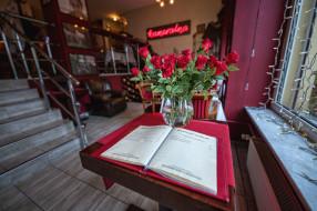 розы, цветы, меню, кафе