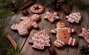 gingerbread, Merry, выпечка, decoration, cookies, Christmas, Рождество, глазурь, печенье, сладкое, Новый Год, Xmas