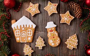 Рождество, глазурь, печенье, сладкое, gingerbread, Merry, Christmas, decoration, cookies, выпечка, Новый Год, Xmas