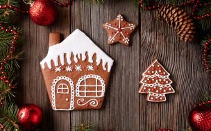 cookies, Christmas, печенье, сладкое, gingerbread, Merry, Рождество, глазурь, decoration, выпечка, Новый Год, Xmas