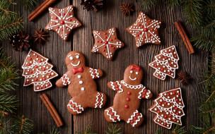 gingerbread, decoration, cookies, Christmas, Рождество, глазурь, печенье, сладкое, Merry, выпечка, Новый Год, Xmas