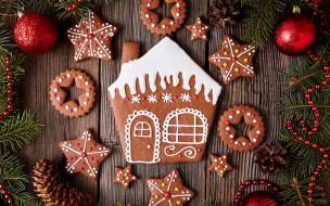 gingerbread, печенье, глазурь, сладкое, decoration, cookies, Christmas, Рождество, Merry, выпечка, Новый Год, Xmas