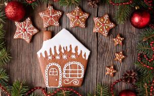 Christmas, Рождество, глазурь, печенье, сладкое, gingerbread, Merry, decoration, cookies, выпечка, Новый Год, Xmas