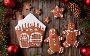 Christmas, Рождество, глазурь, печенье, сладкое, gingerbread, Merry, выпечка, decoration, cookies, Новый Год, Xmas