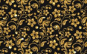 цветы, текстура, golden, фон