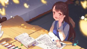 аниме, little witch academia, девочка