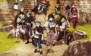 аниме, black clover, asta, yuno, boy, japonese, flag, manga, madoshi, mahou, anime, black, clover