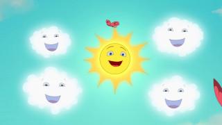 солнце, бабочка, облако