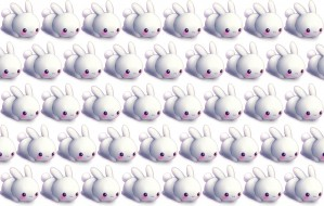 кролики, фон