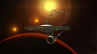вселенная, галактика, космический корабль, полет