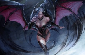 фэнтези, демоны, арт, крылья, arang