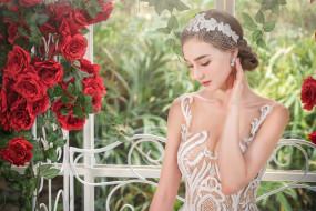 платье, красотка, свадьба, праздник, невеста