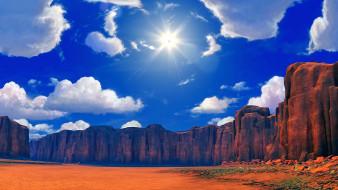 солнце, природа, облака