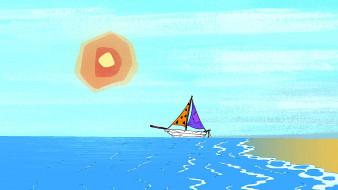 солнце, море, лодка