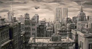 аэробус, здание, небоскреб