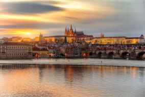 апрель, Прага, закат