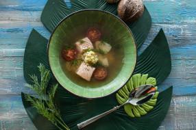 столовые приборы, лист, первое блюдо, суп