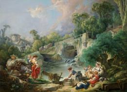 картина, Прачки, Франсуа Буше