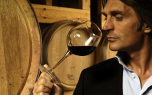 мужчины, - unsort, сомелье, вино, бокал, бочки