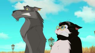 кот, облака, очки, эмоции, волк