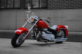 дорога, здание, Мотоцикл