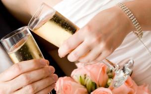 шампанское, браслет, бокалы