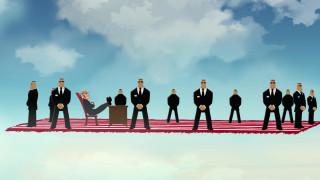 мультфильмы, иван царевич и серый волк 3, ковер, люди, облака, охрана