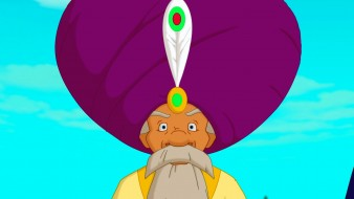 мультфильмы, иван царевич и серый волк 3, дедушка, лицо