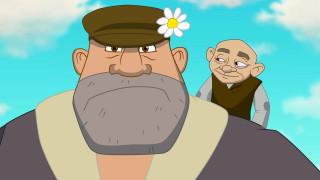 мультфильмы, иван царевич и серый волк 3, взгляд, люди, лицо, цветок, кепка