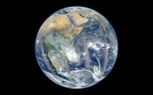 облака, планета, Африка, Земля