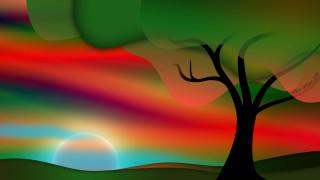 дерево, ночь