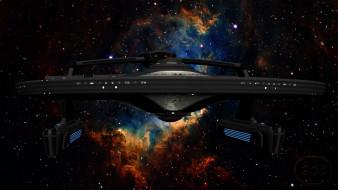 вселенная, полет, космический корабль, галактика