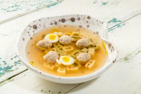 первое блюдо, яйцо, еда, суп
