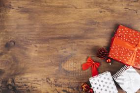 игрушки, подарок, праздник, шишка, бант