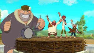 мультфильмы, иван царевич и серый волк 3, люди, великан, мужчина, эмоции, барабан, гитара