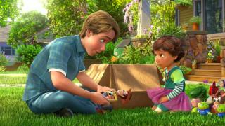 мультфильмы, toy story 3, эмоции, коробка, игрушка, девочка, мальчик