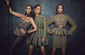 Naomi Campbell, модели, певица, лестница, Rihanna, Iman