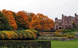 осень, замок, парк