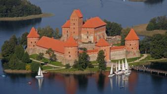 города, тракайский замок , литва, trakai, castle, lithuania