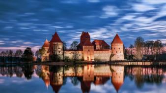 trakai castle lithuania, города, тракайский замок , литва, trakai, castle, lithuania