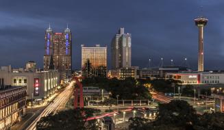 san antonio,  texas, города, сан-антонио , сша, небоскребы, панорама