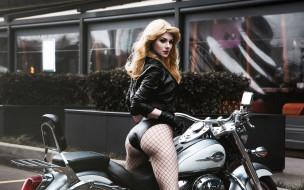 мотоциклы, мото с девушкой, байк, попка, куртка, девушка