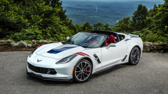 2017, Sport, Chevrolet, Corvette, Convertible, Grand