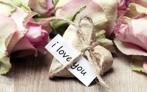 сердечко, надпись, признание, розы, лепестки