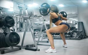 спорт, фитнес, девушка