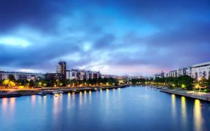 города, хельсинки , финляндия, набережная, река