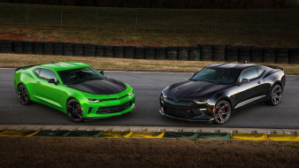 Chevrolet, Green, SS, Camaro, 1LE, Black, 2017